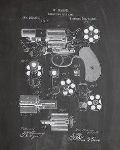 Revolver Patent Print - IndustrialPrints