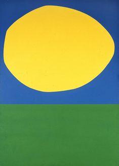 Ellsworth Kelly, High Yellow, via Blanton Museum, Austin, TX Ellsworth Kelly, Matisse, Blanton Museum, Modern Art, Contemporary Art, Hard Edge Painting, Picasso Paintings, Art Moderne, Art Abstrait