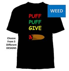 WeedT-shirt Casual Free Shipping Puff NugzLeafMedical by Zedezign