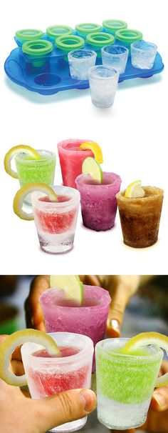 Ice Shot Glasses // great party idea.