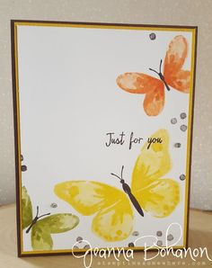 #TGIFC52 Mother's Day Butterfly card Stampin' Up! Jeanna Bohanon