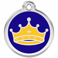 Red Dingo Stainless Steel with Enamel Pet I.D. Tag - King >>> For more information, visit now (This is an amazon affiliate link. I may earn commission from it)