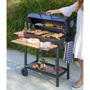 Barbecue à charbon cuve acier sur chariot Cruz