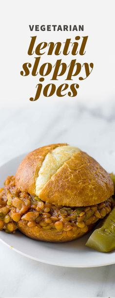 Looking for a kid-friendly way to do Meatless Monday? Try these Lentil Sloppy Joes. Lentils are hearty, meaty, and packed full of plant-based protein!