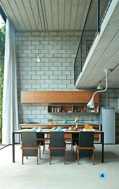 House eco friendly sustainable design 60 Ideas for 2019 Cinder Block House, Cinder Block Walls, Concrete Block Walls, Concrete Houses, Sweet Home, Industrial House, Sustainable Design, Interior Architecture, Business Architecture