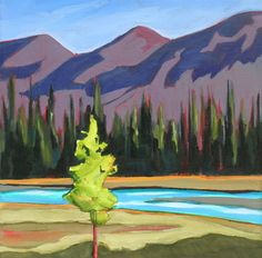 """Kootenay Highway"" - Original Fine Art for Sale - © Carolee Clark"
