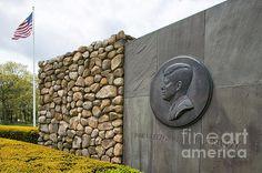 The John F. Kennedy Memorial at Veterans Memorial Park in Hyannis, on Cape Cod, Massachusetts