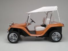 Another great example of our custom convertible bimini top from our friends at Dune Buggy Golf Carts. This example is white, but we can make them in over 50 different colors of Sunbrella fabric.