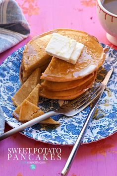 These healthy & delicious Sweet Potato Pancakes are filled with all kinds of energizing ingredients. My 11 & love these pancakes & we are certain you will too! Sweet Potato Recipes Healthy, Healthy Foods, Healthy Recipes, Sweet Potato Cinnamon, Sweet Potato Pancakes, Breakfast Ideas, Breakfast Recipes, Whole 30 Recipes, Saturday Morning