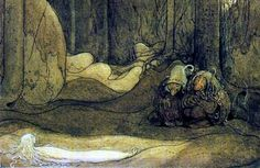 """The Changeling"" by John Bauer Fairy Land, Fairy Tales, Tristan Und Isolde, John Bauer, Aubrey Beardsley, Fairytale Art, Like Animals, Fantasy Books, Faeries"