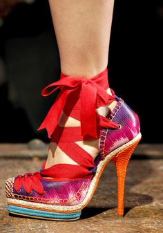 Christian Dior - Hard to believe.  They wouldn't have been so bad if the Ribbon just matched the shoes!