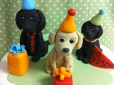This last weekend we had 3 sculpted dog cakes in two days. Sculpted dogs are one of our most popular cakes, close in number to car and purse cakes. Red Cake, Dog Cakes, Dog Birthday, Sugar Flowers, Party Cakes, Cake Decorating, Birthdays, Christmas Ornaments, Holiday Decor
