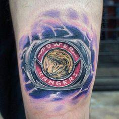 red power ranger tattoo but I'll do the pink ranger instead M Tattoos, Badass Tattoos, Great Tattoos, Body Art Tattoos, Girl Tattoos, Sleeve Tattoos, Tattoos For Women, Nerdy Tattoos, Color Tattoos