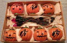 Vintage-NOMA-Christmas-Halloween-Hard-Plastic-Pumpkin-Witch-Lights-C-6-C7