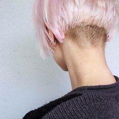Pink undercut bob.... My new hair?? Long way to grow me thinks
