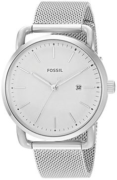Amazon.com: Fossil Women's 'Commuter' Quartz Stainless Steel Casual Watch, Color:Silver-Toned (Model: ES4331): Fossil: Watches