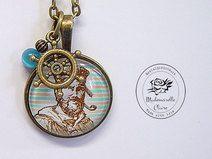 Halskette - Matrose  - bronze