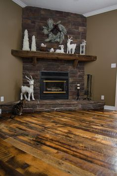 Barn Beam Mantel Design, Pictures, Remodel, Decor and Ideas