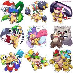 Super Mario And Luigi, Super Mario Art, Mario Brothers, Mario Bros, Nintendo Super Smash Bros, Nintendo Characters, Undertale Drawings, Game Character Design, Video Game Art