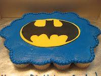 blue batman cupcake cake