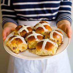 Honey-Glazed Brioche Hot Cross Buns recipe on Food52