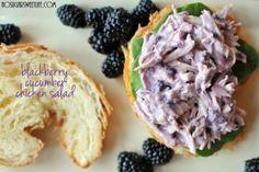 On a Roll + {Blackberry Cucumber Chicken Salad} | Nosh and Nourish