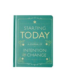 Notitieboek starting today intention journal. Intentie notebook. groen