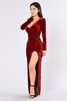 Love Sex Magic Velvet Dress Wine