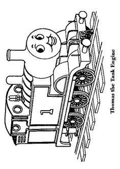 Thomas The Train Coloring Page Coloring Pages Pinterest Kids