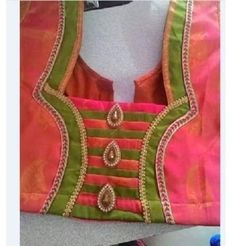15 Simple Patch Work Blouse Neck Designs at Back   Front Latest Blouse Neck  Designs 741a260598