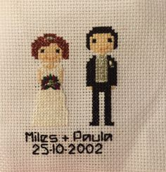 Personalised cross stitch portraits for any occasion.