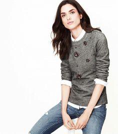 Loft Jeweled Sweatshirt