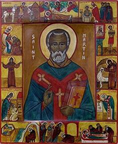 """Memorial of Saint Martin of Tours, Bishop """"The """"Right"""" of Gratitude"""" All Souls Day, Inspired Learning, All Saints Day, Festival Celebration, San Martin, Catholic Saints, Orthodox Icons, Samhain, Fall Crafts"""
