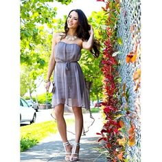 """Femme Fatale: #fashionblogger #hapatime radiating under the afternoon sunlight in our """"Sweet Sophisticate Dress""""! 