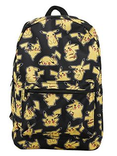 359d6de732d2 It s an adorable Pikachu explosion on this canvas backpack from Pokemon  featuring an allover character print design. Padded back   adjustable  straps.