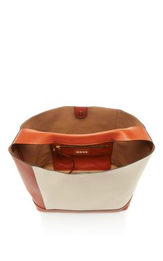 Nappa Leather Oversized Colorbocked Shoulder Bag by MARNI Now Available on Moda Operandi