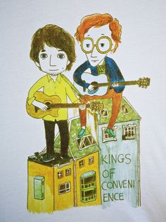 t-shirt design for kings of convenience, by yoon