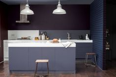 Every space has a dark side, so think twice before you decide on your scheme. Dulux Paint, Double Vision, Dark Colors, Color Splash, Paint Colors, Color Schemes, Interior Design, Modern, Table