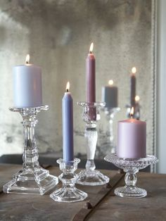 Glass Pillar and Dinner Candle Holder - Nordic House