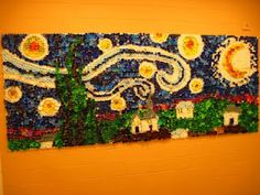 Great semester-long or year-long project..they made this out of bottle caps