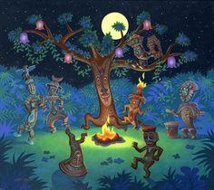 enchanted tiki room tree