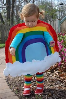 Rainbow Costume on Felt