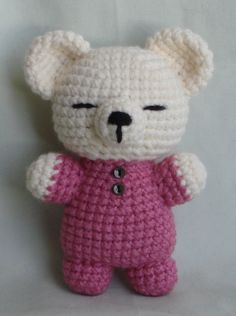 sleepy bear amigurumi by TheArtisansNook.deviantart.com on @deviantART