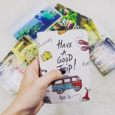 Have a good trip faux leather Passport holder kawaii leather passport wallet pattern full print passport cover wanderlustcover shop