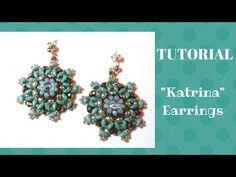 """Tutorial:come realizzare un paio di orecchini """"Katrina"""" con superduo - YouTube"""