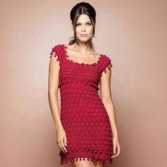 #DiadosNamorados 💋 Sexy & Feminine St Tropez Red Dress ❤❤❤❤👗👗👗👗 #ShopOnline www.vanessamontoro.com 🛍  #VanessaMontoroStyle #VanessaMontoroCrochet #Authentic #Luxury #Crochet