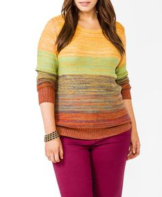Marled Stripe Sweater | FOREVER21 PLUS - 2031557186