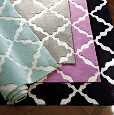 nice color options for this patterned rug