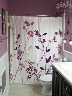 Our Purple Guest Bathroom
