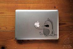 Dragon vinyl. Laptop decal for macbook laptop sticker by vforviu